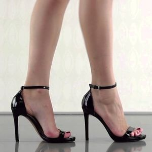 Steve Madden Stecy Black Patent Leather Heels Pump